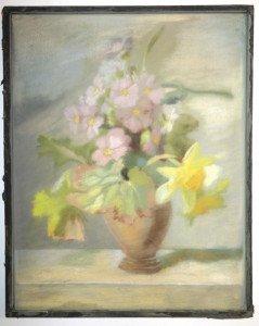 Fleurs et vase Pastel format 36x28.5cm