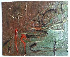 huile sur carton blanc format 11x13