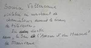 sonia  Vollereaux détail verso