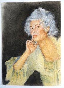 Sonia Vollereaux sur papier dessin lisse crayon couleur format 42x30