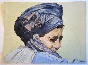 7 aquarelle sur papier dessin lisse format 24x32