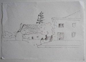 7 dessin étude non signée sur A4