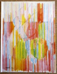 Fusion de fruits et de verres aquarelle