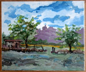 huile sur toile de lin datée 2013 - format 46x55