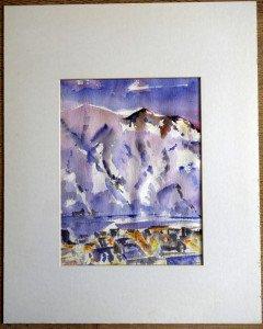 z aquarelle titrée Le Massif du Diable - format 29x22 sur 50x40
