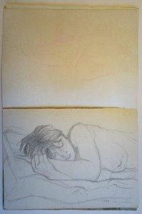 10 carnet dessin - étude -Suzanne 1982 - format  32x24