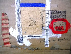 2009 carton l'homme qui regardait