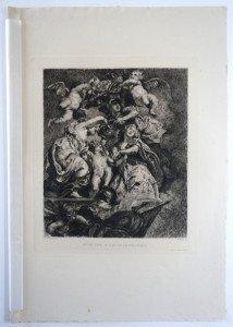 page 174' - Sc F. Milius - Imp A. Clement Paris - ETUDE POUR LE PLAFOND DE WHITEHALL - Bassin 27.6x23 Gravure 23.5x21