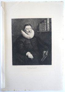 page 70' - Sc Daniel Mordant - PORTRAIT D'UN SAVANT - Bassin 28x22.8 Gravure 23.2x19.8
