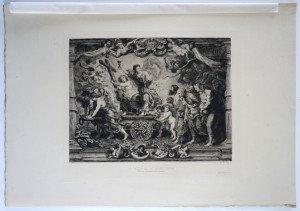page 98' - Sc Ch. de Billy - Imp A. Ckement Paris - LE TRIOMPHE DE LA RELIGION - Bassin 228.x27.3 Gravure 18.7x24.7