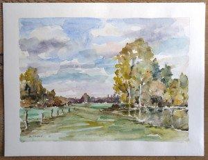 47 2009 aquarelle sur Canson - sans titre datée dos 5 10 2009 - Format 50x65