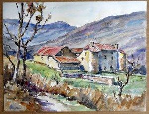 57 2005 aquarelle datée dos 12 12 2005 format 50x65