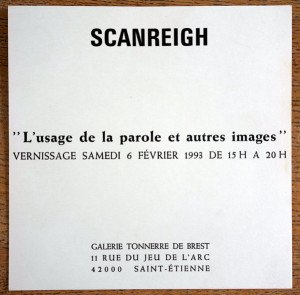 carton expo Galerie Tonnerre de Brest 1993