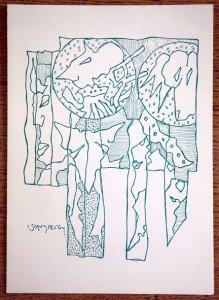 carton exposition Artothèque Mulhouse 1994