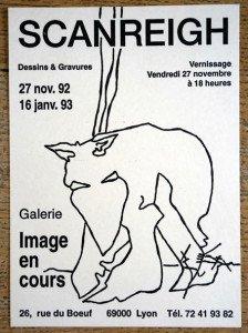 carton exposition Galerie Image en Cours 1992-93