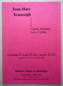 2002 Galerie La Musardine - recto  (cadeau de l'artiste)