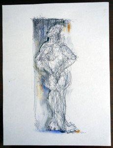 a Stylo Bille sur papier dessin - format 28x21