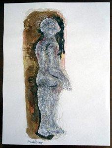 a technique mixte - format 28x21(cadeau de l'artiste)