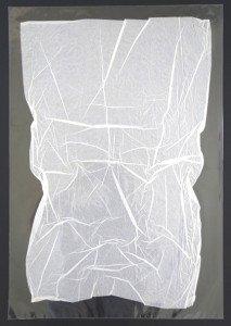 Pliage  papier soie  sous  polypropylène - format général 70x50