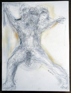 Stylo Bille sur papier dessin - format 28 x21
