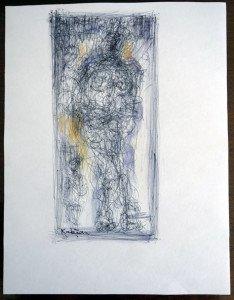 Stylo Bille sur papier dessin - format 28x 21