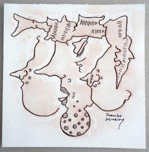 2011 Squiggle - dessin original  (cadeau de l'artiste)