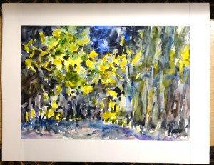 2012 aquarelle signée A.P sans titre datée dos 24 01 2012 format  37x53