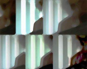 2019 personnage de dos devant un écran avec des rayures copier