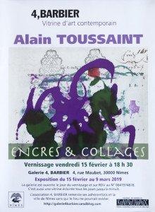 alain toussaint affiche expo format 45x32