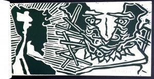 bois gravé imprimé par Scanreigh sur Vergé 100g.