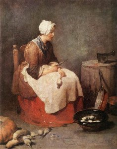 La Ratisseuse de navets, 1738, Jean Siméon Chardin (Washington, National Gallery)