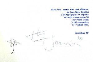 signature auteur, artiste et typographe