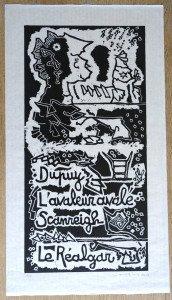 affiche sur papier très fin format 83x46