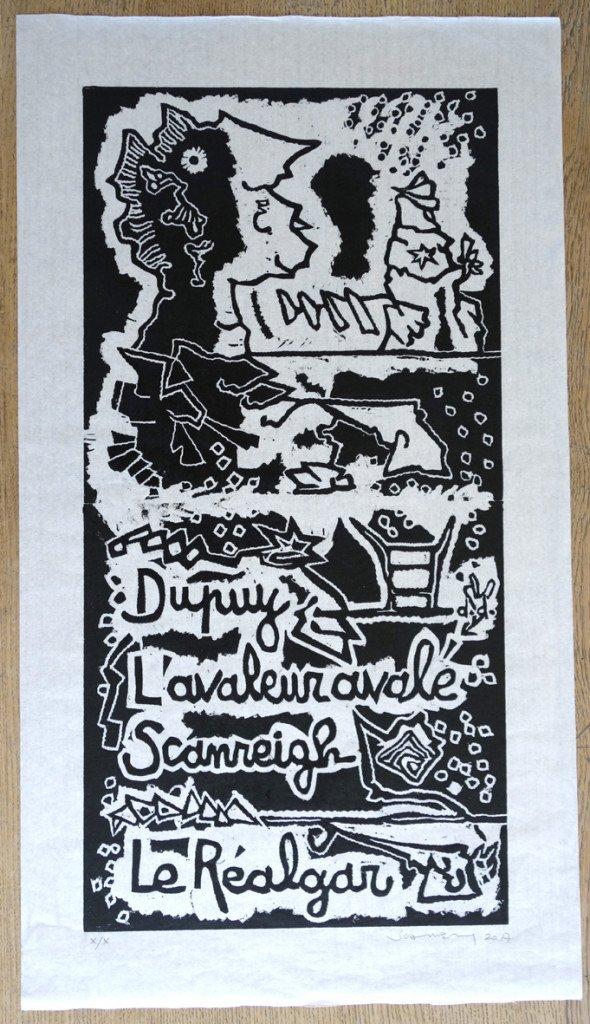 affiche sur papier très fin format 82x46