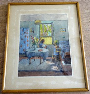 aquarelle format 26x20 sur 38x31