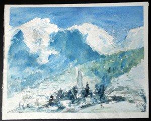aquarelle sur canson Format 27.5x35