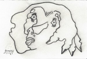 Scan 3 dessins signé daté