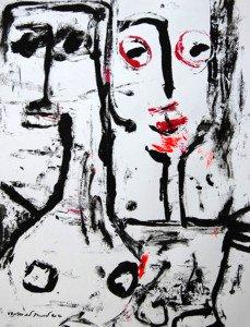 2008 - Acrylique sur papier Format 65x50