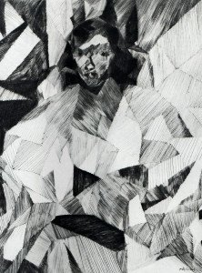 jacques Villon Yvonne D. de face Pointe sèche 1913